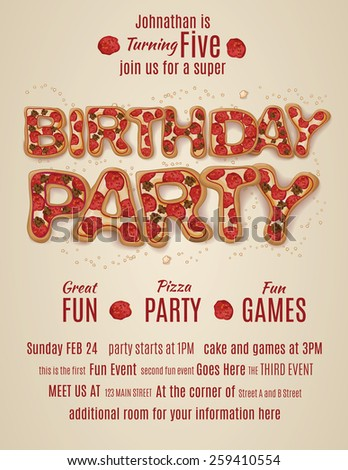 birthday flyers invitations