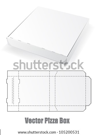 Vector Pizza box - stock vector