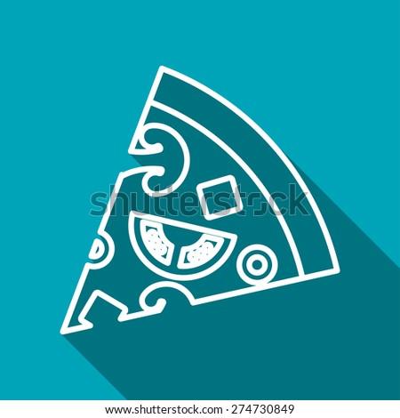 Vector pizza icon. Food icon. Eps10 - stock vector
