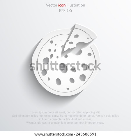 Vector pizza web icon Eps 10.