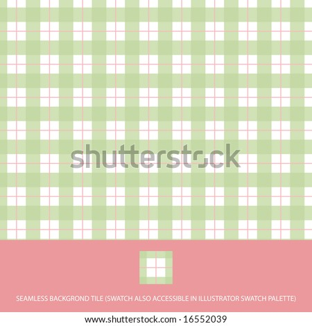 Vector plaid seamless background tile and wallpaper pattern - stock vector