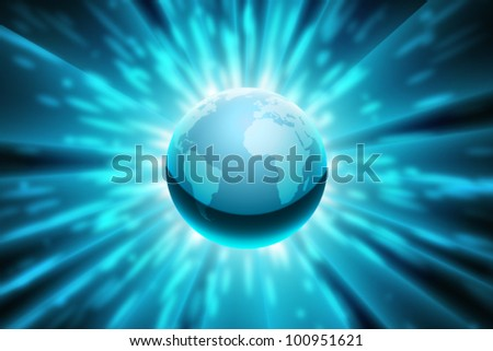 Vector Planet Earth with Abstract Background - stock vector