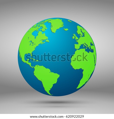 Earth World Map Polygonal D Globe Stock Vector - Globe world map