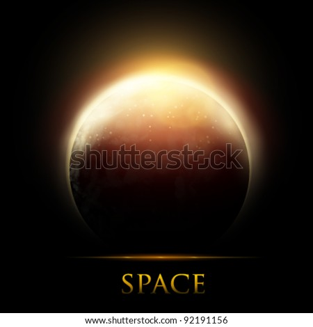 vector planet illustration - stock vector