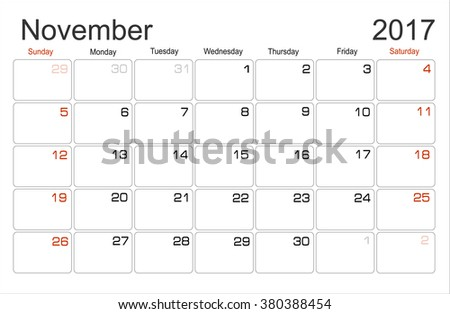 monthly planning calendar