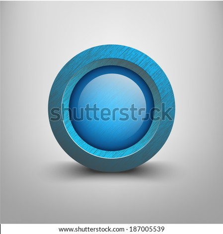Vector Plastic Button