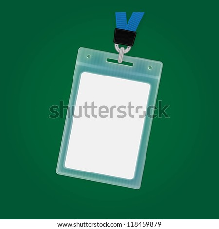 Vector Plastic ID badge