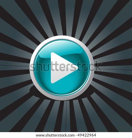 vector play button design art - stock vector
