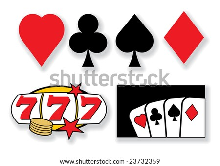 vector playing cards and casino design elements