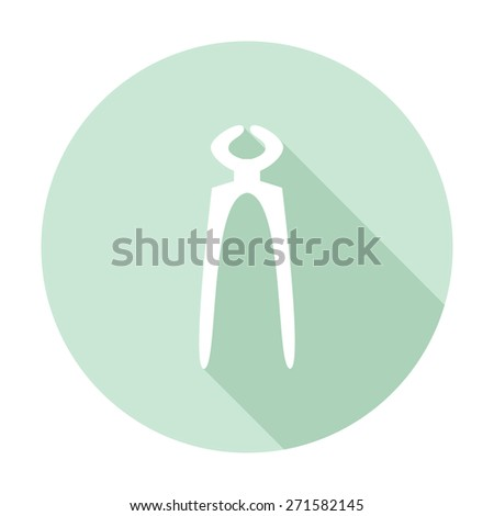 Vector Pliers Icon illustration - stock vector
