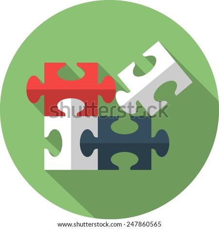 Vector Plugins Flat Icon - stock vector