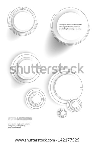Vector point and line black vector card. circle - stock vector