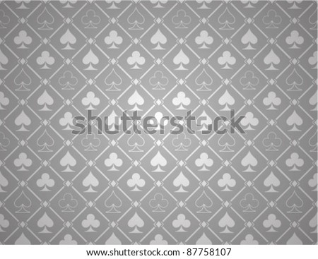 Vector Poker Silver Background - stock vector