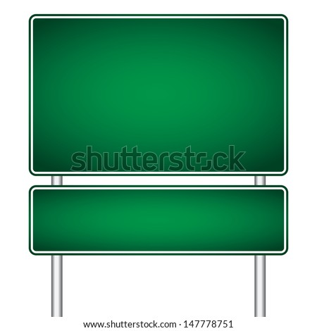 vector pole sign road blank isolated - stock vector