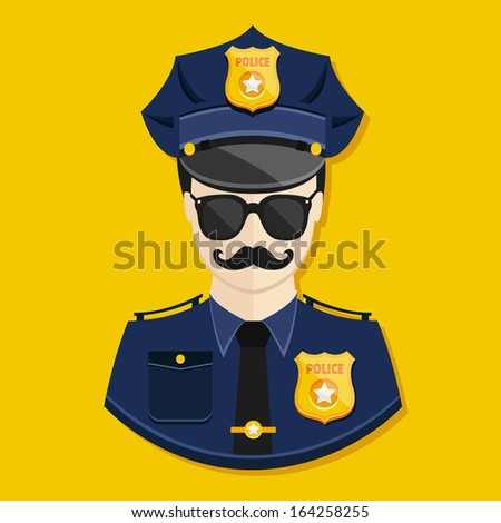 Vector Policeman Icon - stock vector