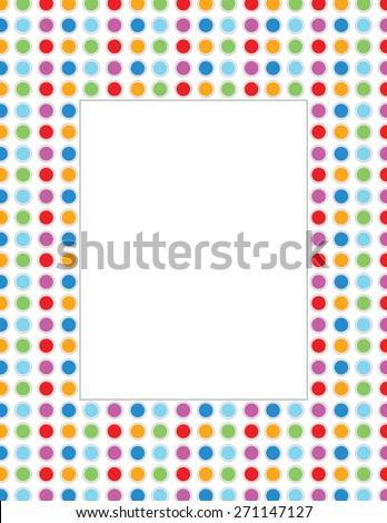 vector polka dot invitation template frame stock vector royalty