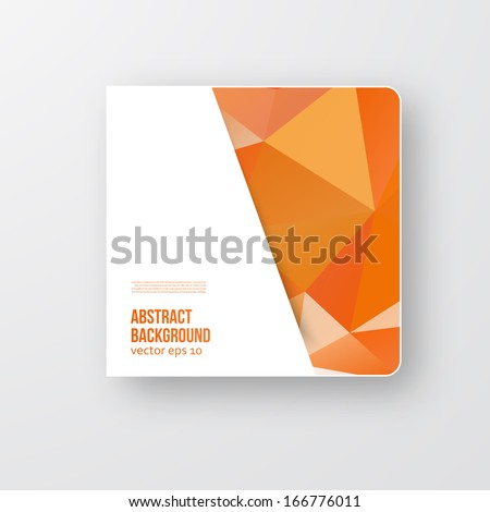 Vector polygon brochure. Abstract background pattern and square - stock vector
