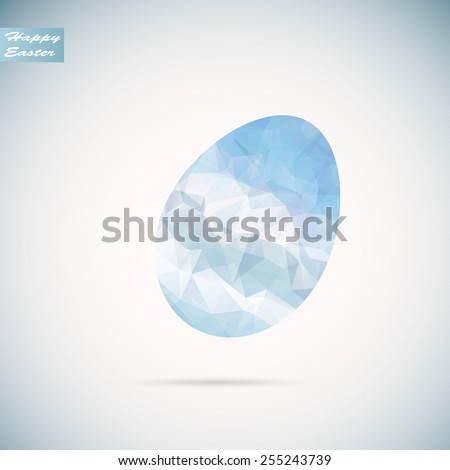 Vector polygon  easter egg background Eps10