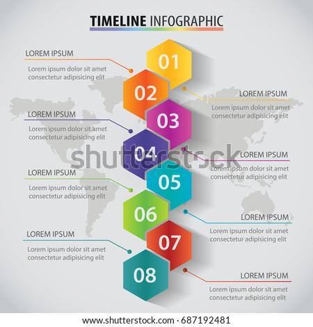 Vector Polygon Infographic Timeline Design Template Stock Vector - Timeline design template