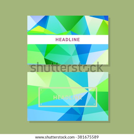 Vector polygonal design element for digital and print design - stock vector
