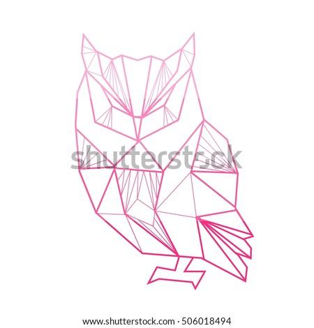 Vector Polygonal Illustration Geometric Owl Gradient Stock ...   450 x 470 jpeg 25kB