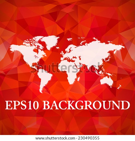 Vector Polygonal World Map background. Website background template. Book cover template. Bright yellow polygons. Gerographical map - stock vector