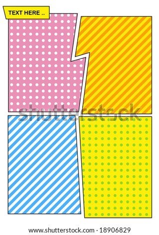 Vector Pop Art Style Background - stock vector