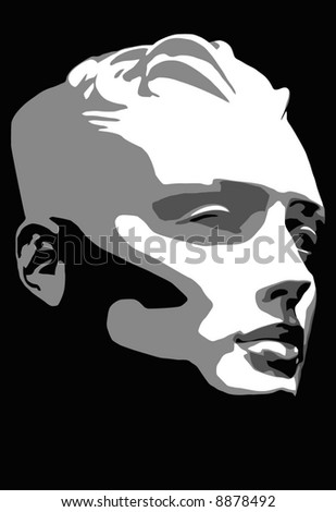 vector - portrait - stock vector