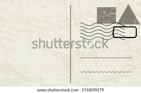 Vector Post Card  - stock vector