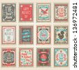 Vector postage stamps set. Mother's Day collection - stock photo