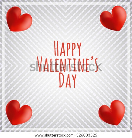 Vector postcard for Valentine's day. Four expressive heart peeking out of the edges of the picture and congratulatory inscription on retro background. All isolated. - stock vector