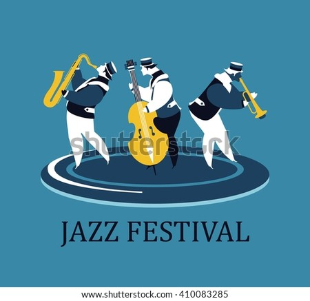 vector poster presentation music band jazz bands