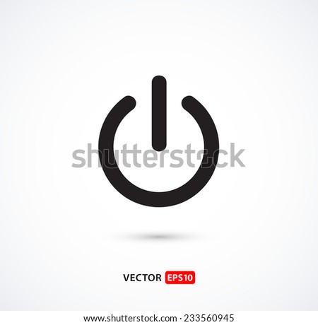 Vector power button icon for websites, applications or smartphones, etc. - stock vector