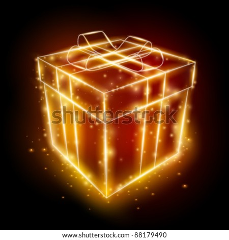 vector present box illustration - stock vector