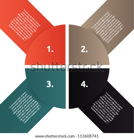Vector presentation with circles shaped and arrows - stock vector