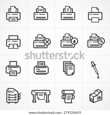 Vector print icon set