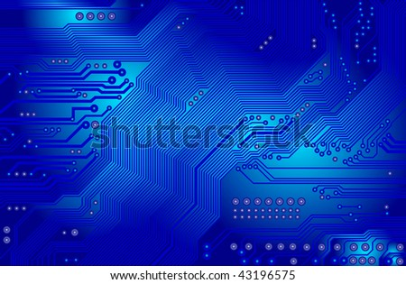 Vector printed circuit - motherboard - vector