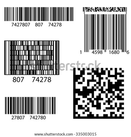 Vector Product Barcode 2d Square Label. Sample  QR Code Ready to Scan with Smart Phone - stock vector
