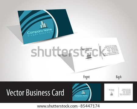 vector professional business card with presentation - stock vector