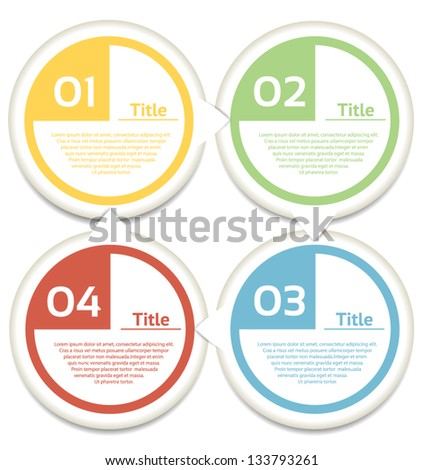 Vector Progress background / product choice or version - stock vector