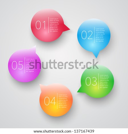 vector progress bubbles design elements - stock vector