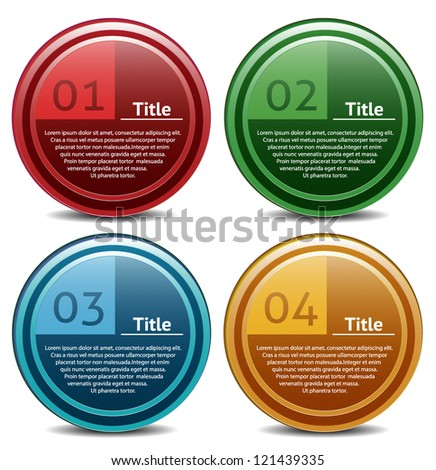 Vector progress icon for four steps. eps 10 - stock vector