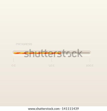 Vector progress loading bar - stock vector