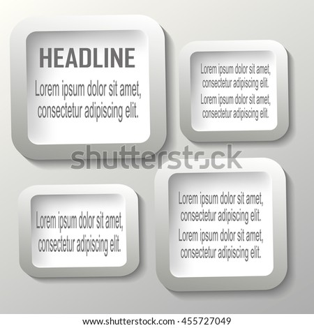 Vector progress product choice with numbers and description place in gray background - stock vector