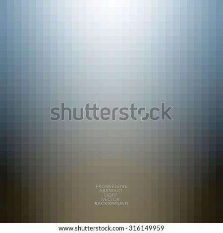 vector - progressive light blurred mosaic background. - stock vector