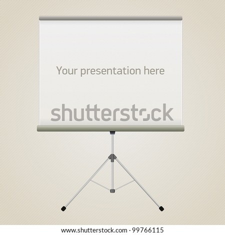 Vector projector screen for your presentation - stock vector
