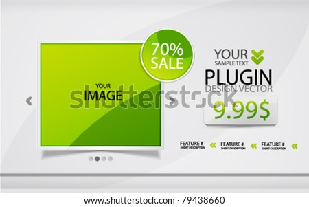 Vector promotional web design template - stock vector