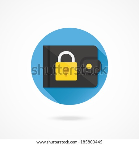 Vector Protect Wallet Icon Protect Savings Concept - stock vector