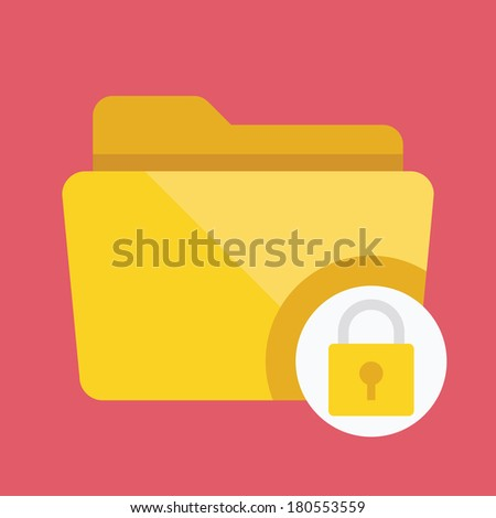 Vector Protected Folder Icon - stock vector