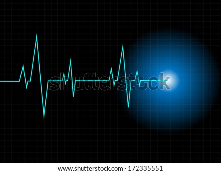 Vector pulse background - stock vector